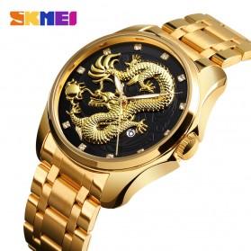 SKMEI Jam Tangan Analog Pria - 9193 - Black Gold - 2