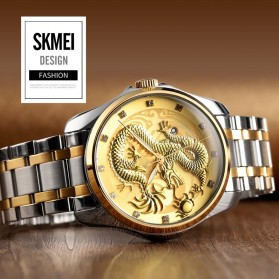 SKMEI Jam Tangan Analog Pria - 9193 - Black Gold - 4