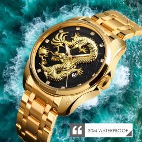 SKMEI Jam Tangan Analog Pria - 9193 - Black Gold - 5