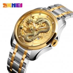 SKMEI Jam Tangan Analog Pria - 9193 - Silver/Gold - 2