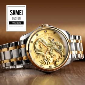 SKMEI Jam Tangan Analog Pria - 9193 - Silver/Gold - 4