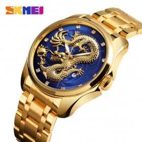 SKMEI Jam Tangan Analog Pria - 9193 - Golden/Blue - 2