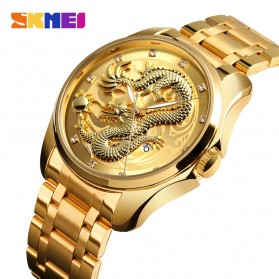 SKMEI Jam Tangan Analog Pria - 9193 - Golden - 2