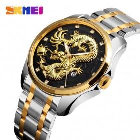 SKMEI Jam Tangan Analog Pria - 9193 - Silver Black - 2