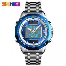 SKMEI Jam Tangan Solar Digital Analog Pria - 1493 - Silver Blue