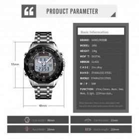 SKMEI Jam Tangan Solar Digital Analog Pria - 1493 - Silver Black - 6