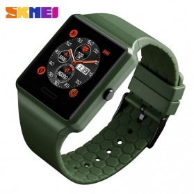SKMEI Jam Tangan Olahraga Heartrate Smartwatch Bluetooth - 1526 - Army Green