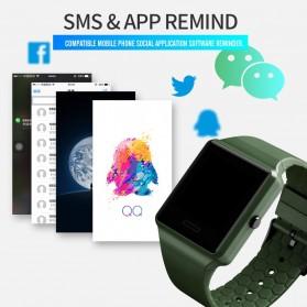 SKMEI Jam Tangan Olahraga Heartrate Smartwatch Bluetooth - 1526 - Army Green - 3