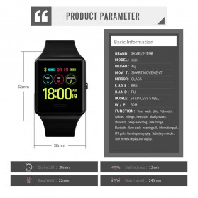 SKMEI Jam Tangan Olahraga Heartrate Smartwatch Bluetooth - 1526 - Army Green - 6