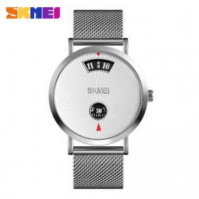 SKMEI Jam Tangan Analog Pria Strap Stainless Steel - 1489 - Silver