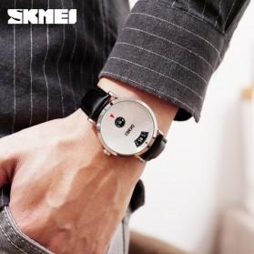 SKMEI Jam Tangan Analog Pria Strap Stainless Steel - 1489 - Silver - 4