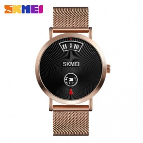 SKMEI Jam Tangan Analog Pria Strap Stainless Steel - 1489 - Rose Gold