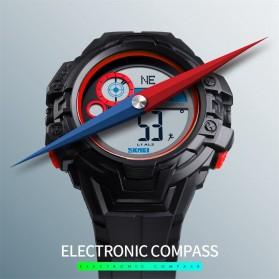 SKMEI Jam Tangan Digital Pria Pedometer Compass - 1447 - Black - 4