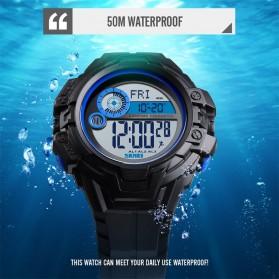 SKMEI Jam Tangan Digital Pria Pedometer Compass - 1447 - Black - 5