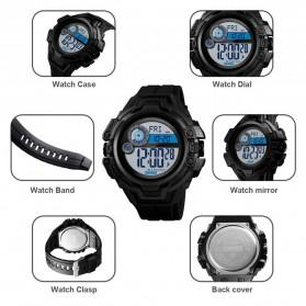 SKMEI Jam Tangan Digital Pria Pedometer Compass - 1447 - Black - 6
