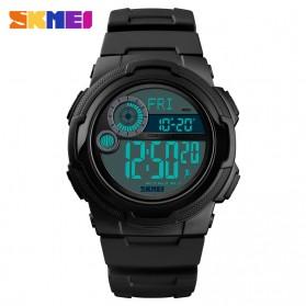 SKMEI Jam Tangan Digital Pria Pedometer Compass - 1424 - Black