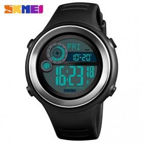 SKMEI Jam Tangan Digital Pria Pedometer Compass - 1395 - Black/Silver