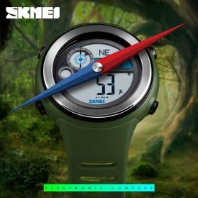 SKMEI Jam Tangan Digital Pria Pedometer Compass - 1395 - Black/Silver - 3