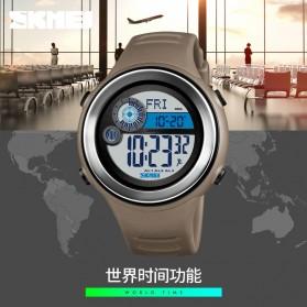 SKMEI Jam Tangan Digital Pria Pedometer Compass - 1395 - Black/Silver - 4