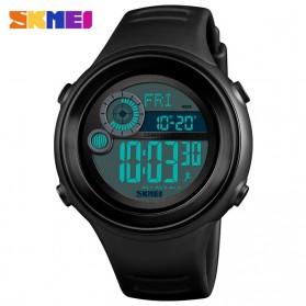 SKMEI Jam Tangan Digital Pria Pedometer Compass - 1395 - Black/Black