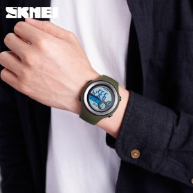 SKMEI Jam Tangan Digital Pria Pedometer Compass - 1395 - Black/Black - 5