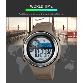 SKMEI Jam Tangan Digital Pria Pedometer Compass - 1395 - Black/Black - 7