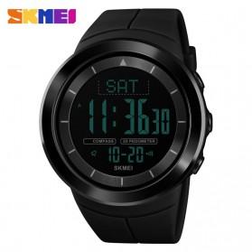 SKMEI Jam Tangan Digital Pria Pedometer Compass - 1403 - Black