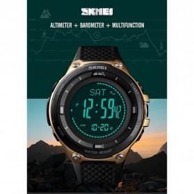 SKMEI Jam Tangan Digital Pria Sport Thermometer Compass Pedometer Calorie - 1443 - Orange - 2