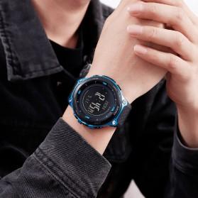 SKMEI Jam Tangan Digital Pria Sport Thermometer Compass Pedometer Calorie - 1443 - Orange - 6