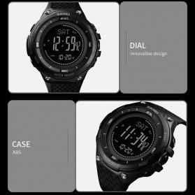 SKMEI Jam Tangan Digital Pria Sport Thermometer Compass Pedometer Calorie - 1443 - Orange - 7
