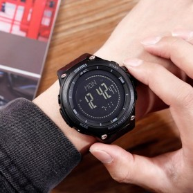 SKMEI Jam Tangan Digital Pria Sport Thermometer Compass Pedometer Calorie - 1443 - Gray - 3