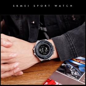 SKMEI Jam Tangan Digital Pria Sport Thermometer Compass Pedometer Calorie - 1443 - Gray - 4