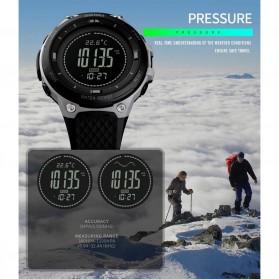 SKMEI Jam Tangan Digital Pria Sport Thermometer Compass Pedometer Calorie - 1443 - Gray - 9