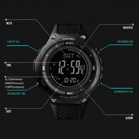 SKMEI Jam Tangan Digital Pria Sport Thermometer Compass Pedometer Calorie - 1443 - Army Green - 8