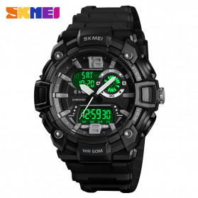 SKMEI Jam Tangan Analog Digital Pria - 1529 - Black