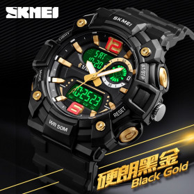 SKMEI Jam Tangan Analog Digital Pria - 1529 - Black - 2