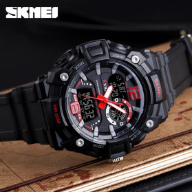 SKMEI Jam Tangan Analog Digital Pria - 1529 - Black - 5