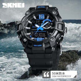 SKMEI Jam Tangan Analog Digital Pria - 1529 - Black - 6