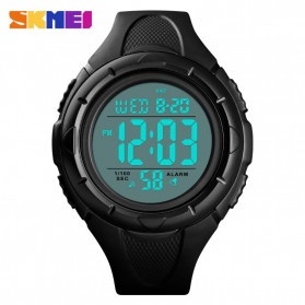 SKMEI Jam Tangan Digital Pria - 1535 - Black White