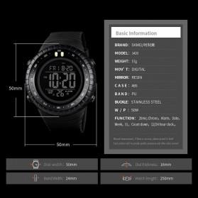 SKMEI Jam Tangan Digital Pria - 1420 - Black White - 5