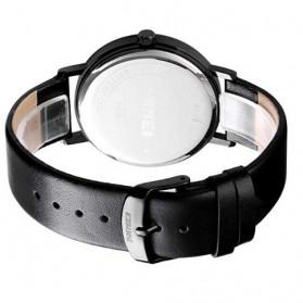 SKMEI Jam Tangan Analog Pria PU Leather - 1565 - Black - 5