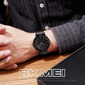 SKMEI Jam Tangan Analog Pria PU Leather - 1565 - Black - 7