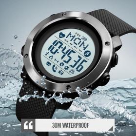 SKMEI Jam Tangan Smartwatch Pria Bluetooth Pedometer Compass Heartrate - 1511 - Black - 3