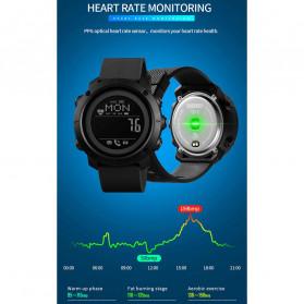 SKMEI Jam Tangan Smartwatch Pria Bluetooth Pedometer Compass Heartrate - 1511 - Black - 4