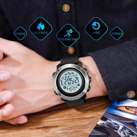SKMEI Jam Tangan Smartwatch Pria Bluetooth Pedometer Compass Heartrate - 1511 - Black - 6
