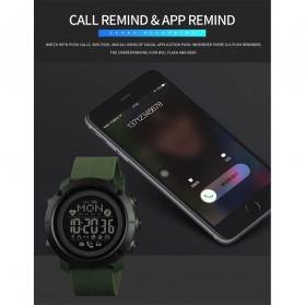 SKMEI Jam Tangan Smartwatch Pria Bluetooth Pedometer Compass Heartrate - 1511 - Black - 7