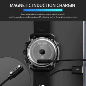 SKMEI Jam Tangan Smartwatch Pria Bluetooth Pedometer Compass Heartrate - 1511 - Black - 9