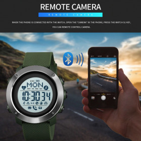 SKMEI Jam Tangan Smartwatch Pria Bluetooth Pedometer Compass Heartrate - 1511 - Army Green - 8
