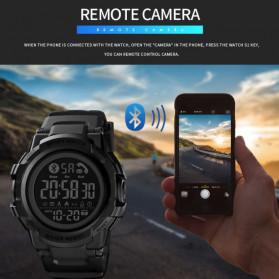 SKMEI Jam Tangan Smartwatch Pria Bluetooth Pedometer - 1501 - Black - 10