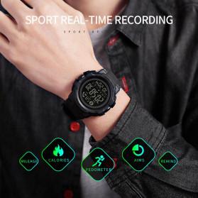 SKMEI Jam Tangan Smartwatch Pria Bluetooth Pedometer - 1501 - Black - 3